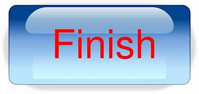 Finish Button Finished Clip Icon Transparent Clipart