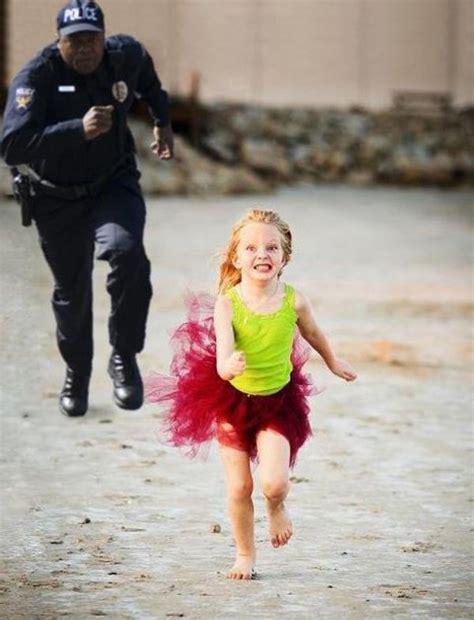 Yellow Raincoat Girl Meme - little girl running from police daily picks and flicks
