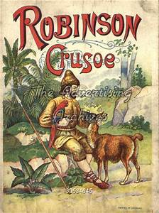The Advertising Archives Book Cover Robinson Crusoe 1840s Pre