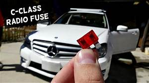 Mercedes W204 Radio Fuse Replacement Location C250 C300 C350 C220 C260 C200 C280