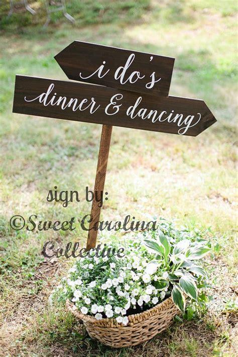 i do s dinner dancing wooden wedding signs wedding