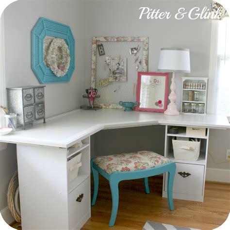 diy corner desk with storage craftroom7 craft storage ideas