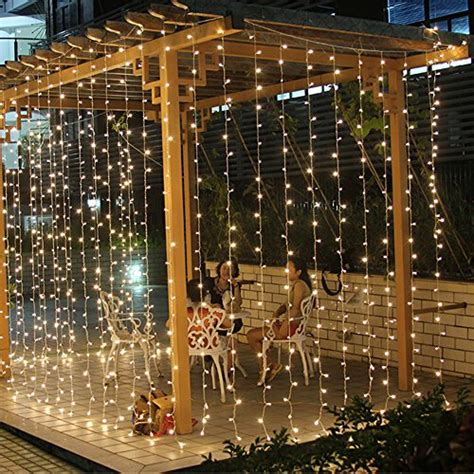 3m x 3m 300 led fairy string curtains light window icicle