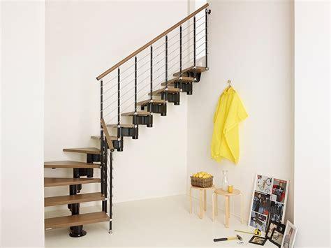 escalier ouvert quart tournant en acier et bois pixima by fontanot