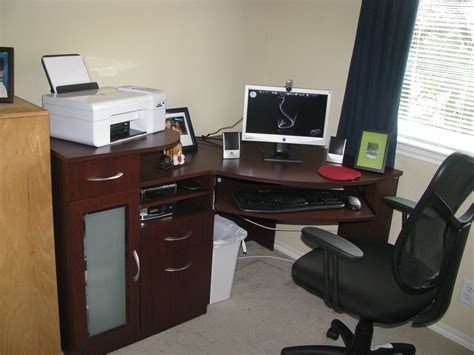 bush vantage cherry corner computer desk sets 15