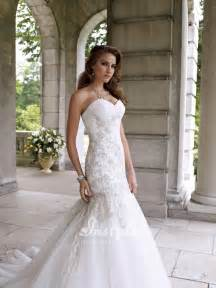 strapless mermaid wedding dresses strapless sweetheart mermaid wedding dress uk with beaded lace appliqués instyledress co uk