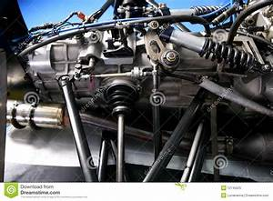 Formula One Car Engine Detail Stock Image