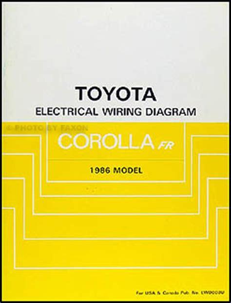 Toyota Corolla Rwd Wiring Diagram Manual Original