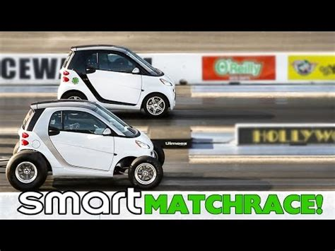 Crazy Smart Cars Match Race Big Block Chevy Toyota