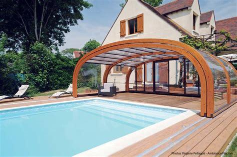 bureau de liaison abri piscine bois haut abrisud fabricant abri de