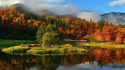 Autumn Fall Wallpapers Mountain Mountains Misty Feel