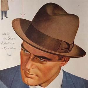 Vintage 1950 Stetson Mens Hat Ad
