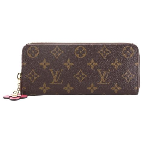 louis vuitton clemence wallet limited edition bloom flower monogram canvas  stdibs