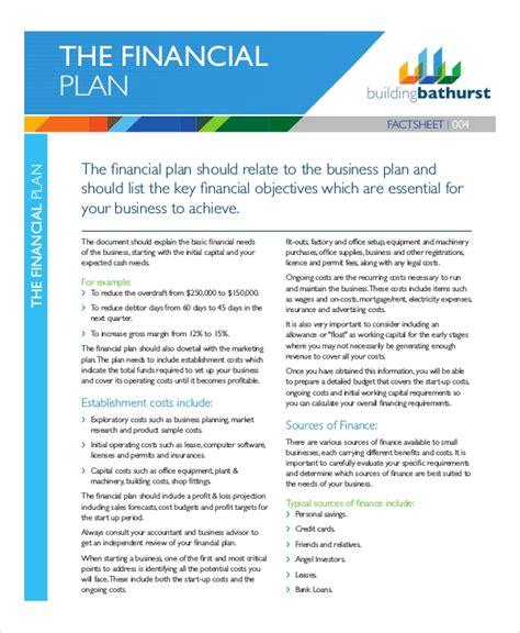 financial plan examples samples  word apple