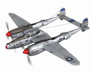 Lockheed P-38 Lightning - Jewboy 3d Model Obj Fbx C4d Lwo Lw Lws