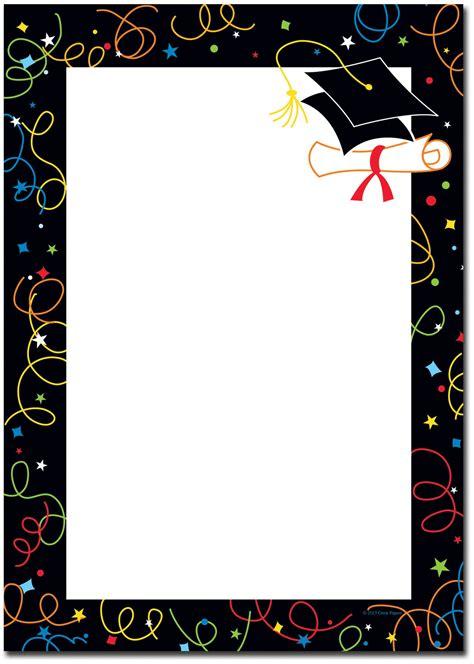 graduation borders graduation diseno de tarjeta de