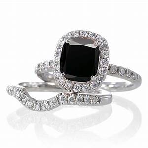 24 fantastic black and white diamond wedding ring sets With white diamond wedding ring sets