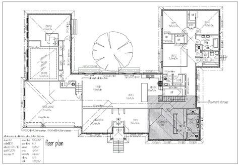 shaped house plans pool middle  house plans