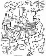 Coloring Camping Pages Preschool Popular sketch template