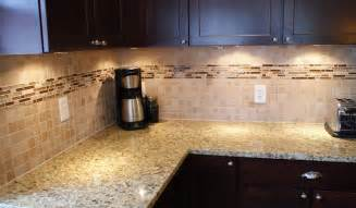 Kitchen With Glass Tile Backsplash Glass And Mosiac Backsplash Wolf Custom Tile And Design