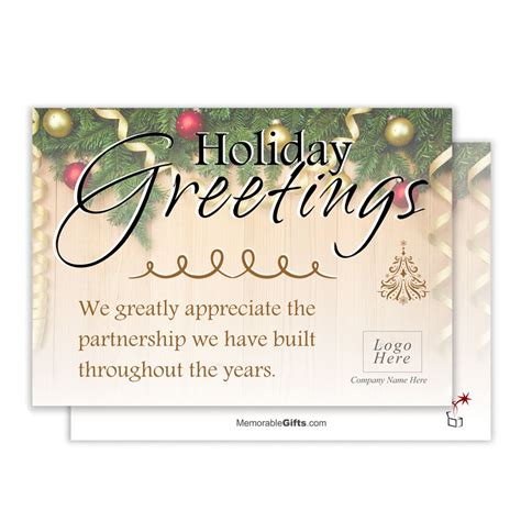 Pattern for flyers, banners and textiles. Holiday Greetings Corporate Holiday Card