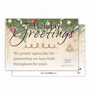 Holiday greetings corporate holiday card for Greeting cards for business use