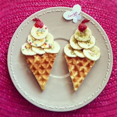birthday breakfast quot ice cream waffle cone quot waffles cute for birthday mornings photo by seniyye instagram