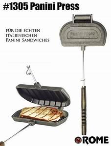 Waffeleisen Und Sandwichmaker : rome panini press 1305 sandwichtoaster f r feuer grill ~ Watch28wear.com Haus und Dekorationen