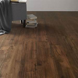 parquet massif solid largeur 3 frises acacia walnut With parquet à clipser leroy merlin