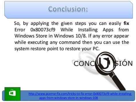 repair error 0x80073cf9 while installing apps from windows