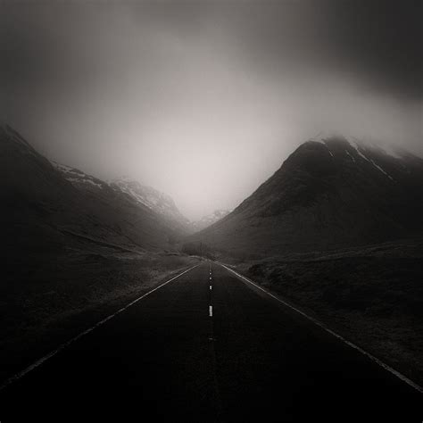 photographer captures roads  desolate landscapes