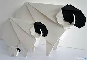 Origami Maison En Papier : cr ation et reproduction de moutons b liers en papier ~ Zukunftsfamilie.com Idées de Décoration