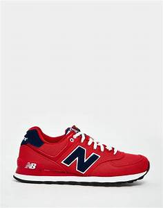 New balance 574 Canvas Sneakers in Red for Men | Lyst