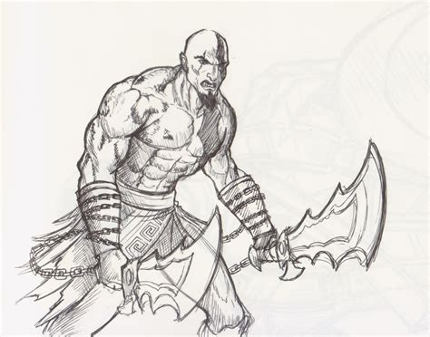 Kratos God Of War By Wavingcolours On Deviantart