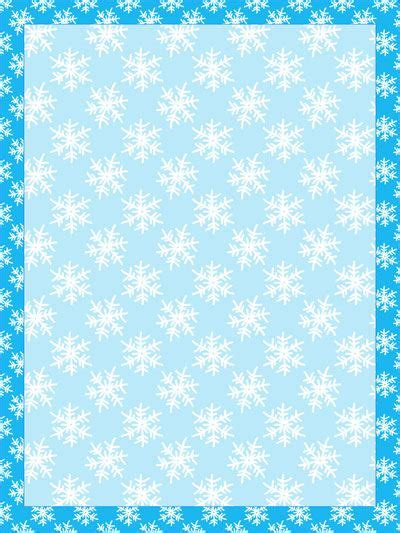 printable borders  backgrounds snowflake winter