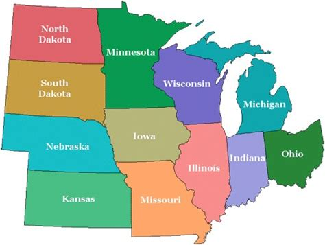 States Of The Midwest