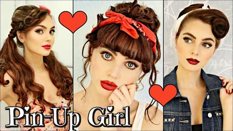 3 Vintage/retro Pin Up Girl Hairstyles! (1940 / 50's