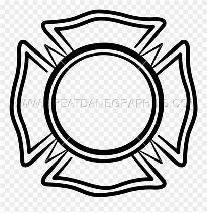 Clipart Maltese Fire Cross Department Emblem Volunteer
