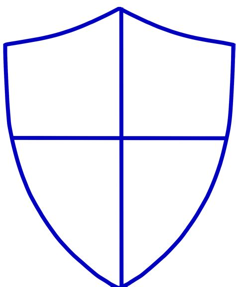 Shield Outline Template