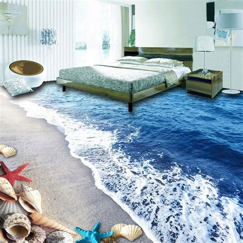 custom  photo waterproof wallpaper  bathroom floor