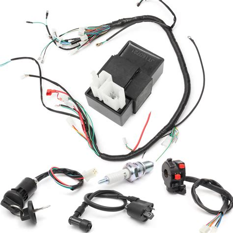 Wiring Harnes 200 250cc Electric Start Loncin by 150cc 200cc 250cc Wiring Harness Loom Solenoid Coil