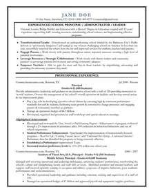 elementary school principal resume templates entry level assistant principal resume templates senior educator principal resume sle