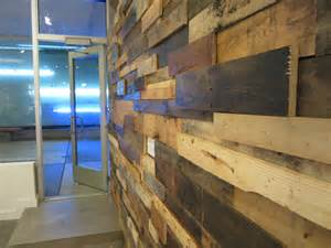 Wood pallet wall gallery furniture