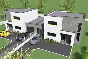 Appartement F2 Définition : plan maison mitoyenne moderne maison moderne ~ Melissatoandfro.com Idées de Décoration