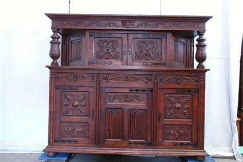 Large Buffet Cabinet by 5509035 Large Antique Carved Oak Style Cabinet
