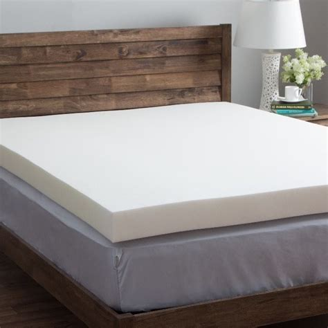 4 inch mattress topper comfort dreams 4 inch memory foam mattress toppers bed