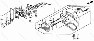 Honda Motorcycle 1987 Oem Parts Diagram For Taillight