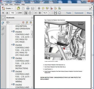 chevrolet colorado     service workshop manual