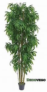Grande Plante Artificielle : vente bambou grande gant plante arbre artificielle artificiel plastique 210cm avec bois ~ Teatrodelosmanantiales.com Idées de Décoration