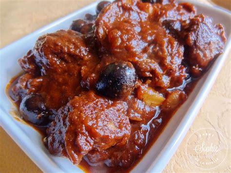 cuisiner la joue de boeuf boeuf confit aux olives la tendresse en cuisine